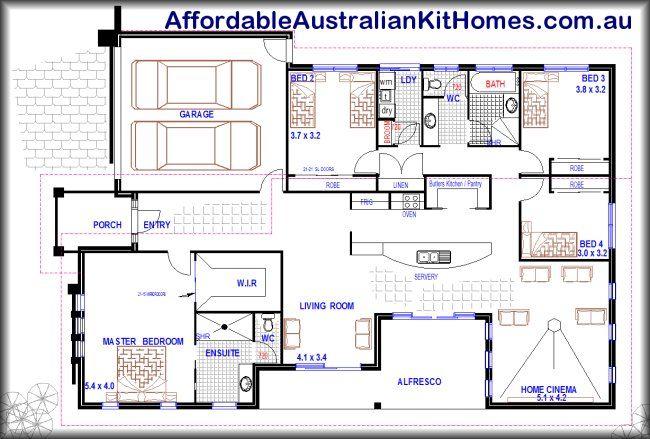 Single story house plans floor plan house build for Four bedroom house plans australia