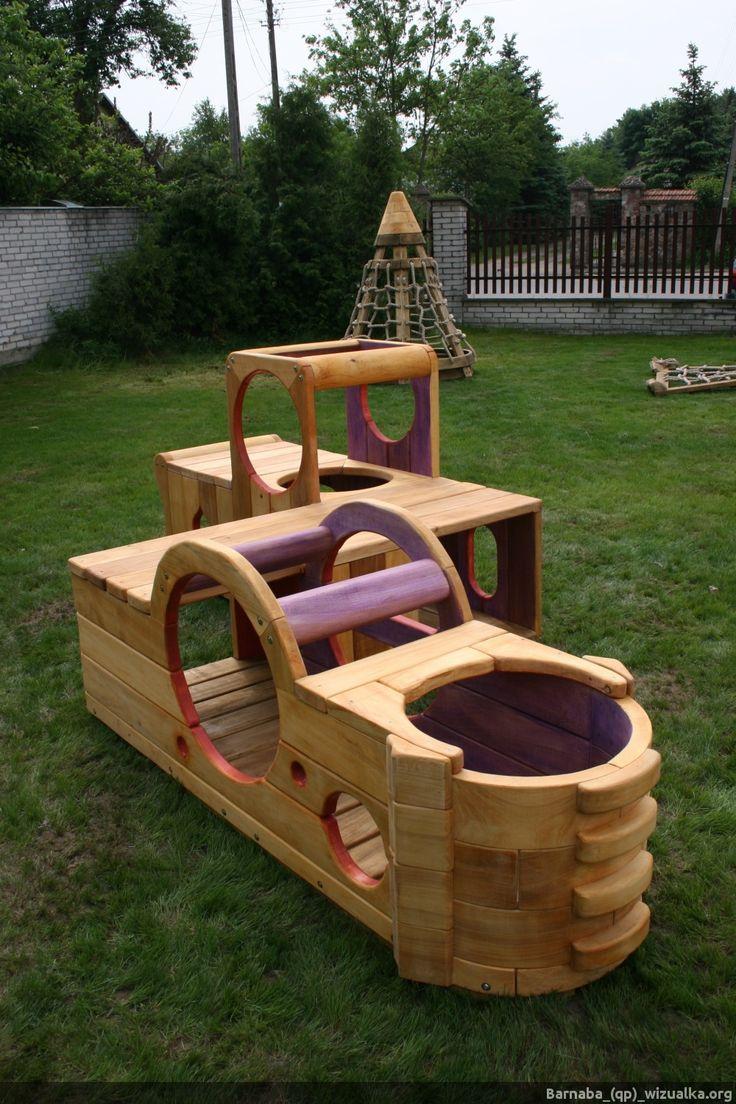 Drewniany tunel dla dzieci. | _(qp)_Drewniane zabawki i unikatowe place zabaw.