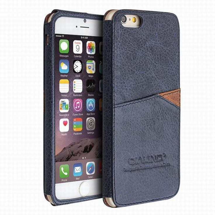 QIALINO Leather Back Case for Iphone 6 4.7 Inch with Card Holder