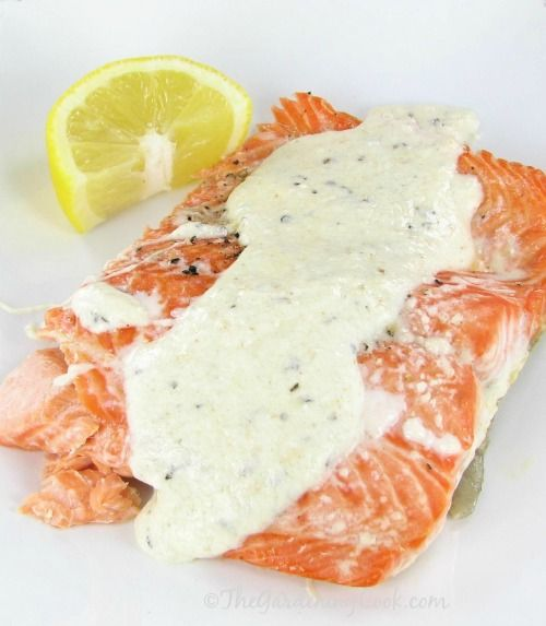 Steel Head Trout with Lemon Parmesan Sauce - The Gardening Cook