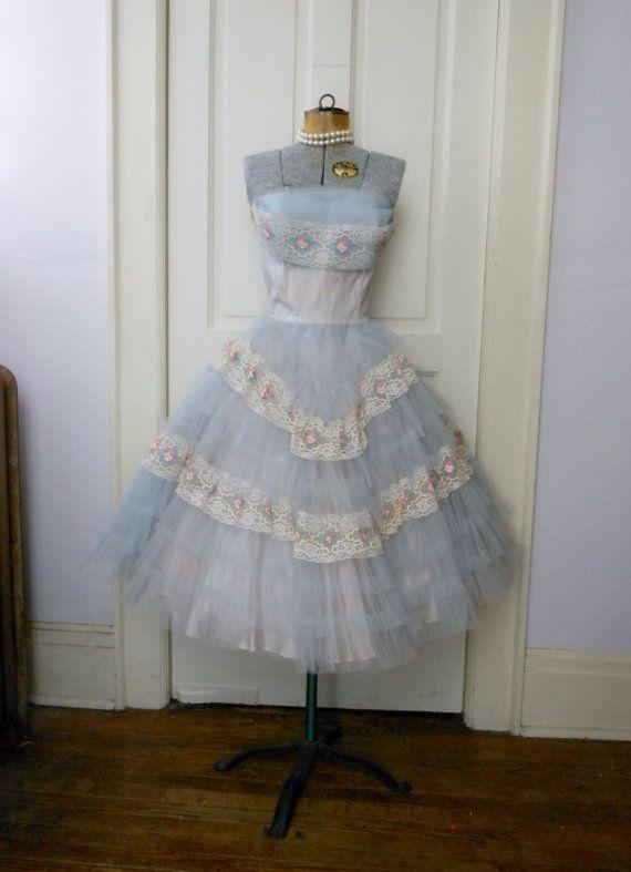 Tulle prom dress vintage