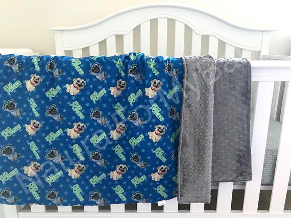 Disney Blanket Puppy Dog Pals Nursery Bedding Cotton Minky Blanket