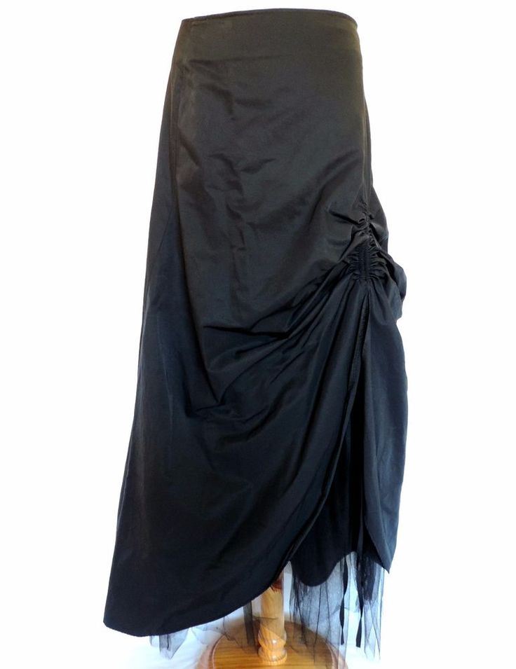 FRED SUN GOTHIC LONG BLACK HITCH SKIRT STEAMPUNK WHITBY VAMPIRE WICKED ALT 10-12
