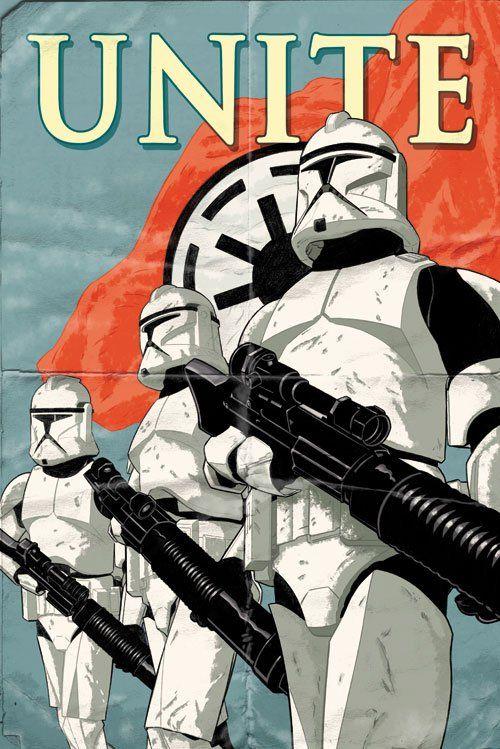 35 affiches retro inspirées par Star Wars