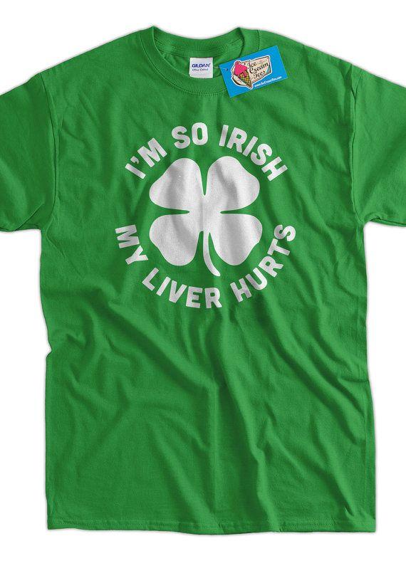 Irish T-Shirt Funny Bar Drinking Ireland St Patricks Day T-Shirt Gifts for Dad Screen Printed T-Shirt Tee Shirt T Shirt Mens Ladies Womens Niall
