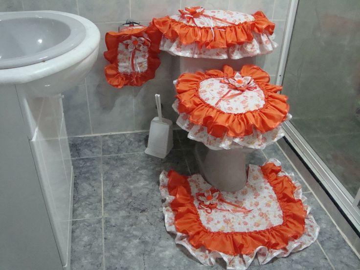 Juegos De Baño Pintados En Tela: Juegos de baños on Pinterest