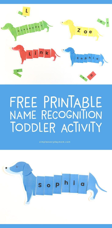 dog puzzle preschool activity kindergarten printable activities names fun preschoolers writing easy lessons head jobs simpleeverydaymom