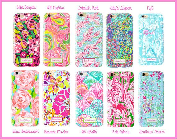 Lilly Pulitzer Monogrammed Phone Cases by ThePinkPineappleShop