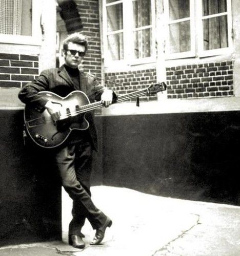 Stuart Sutcliffe in Hamburg (Photo by Astrid Kircherr)