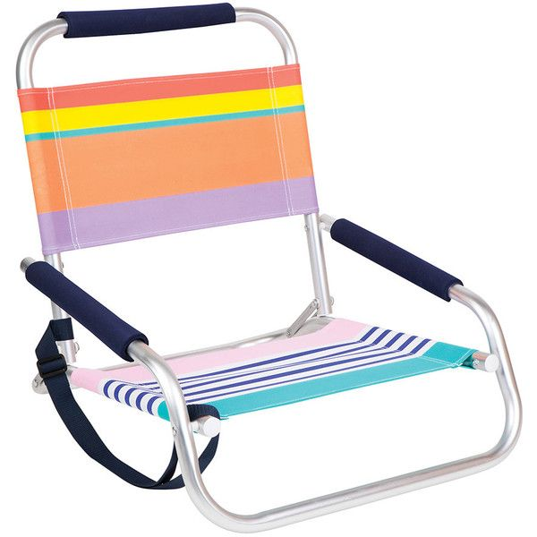 Sunnylife Beach Seat - Havana ($55) ❤ liked on Polyvore featuring home, outdoors, patio furniture, outdoor chairs, multi, low beach chairs, folding beach chairs, adjustable beach chair, outdoor folding chairs and folding garden chairs