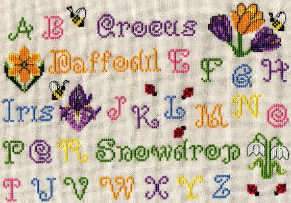 Simply Spring Sampler Cross Stitch PDF Chart by StitchersAnon, €5.00