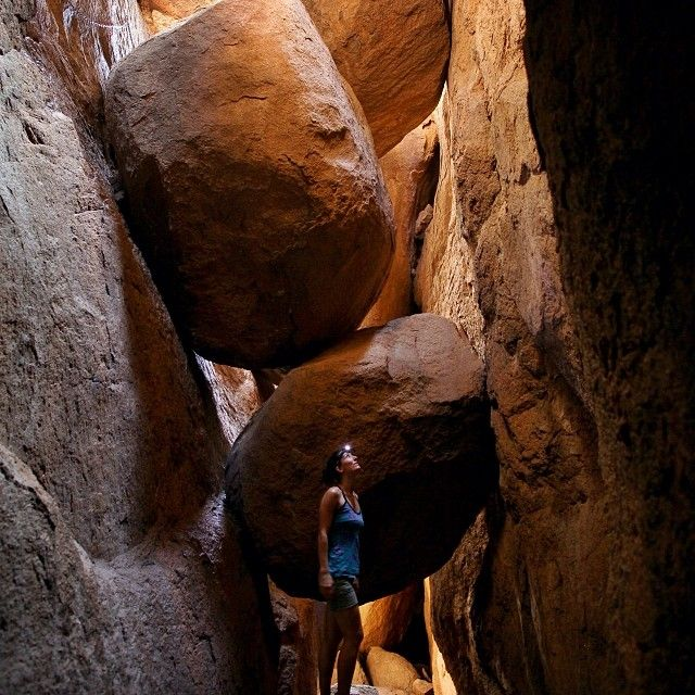 The well-kept-secret boulder cave in the hidden gem of Oklahoma: the Wichita Mountains Wildlife Refuge by tylermetcalfe