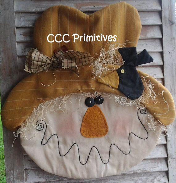 Primitive Pattern  Sam Scarecrow Door Greeter by CCCPrimitives, $9.00