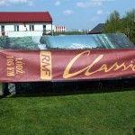Druk transparentów reklamowych dla RMF Classic - Druk Termotransferowy na tkaninach.