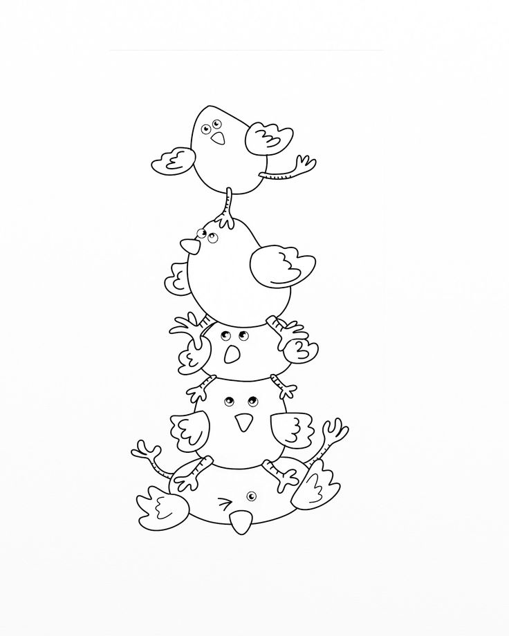 Sj's - Little Musings: Free digital stamp = Easter chick pile (no color)!