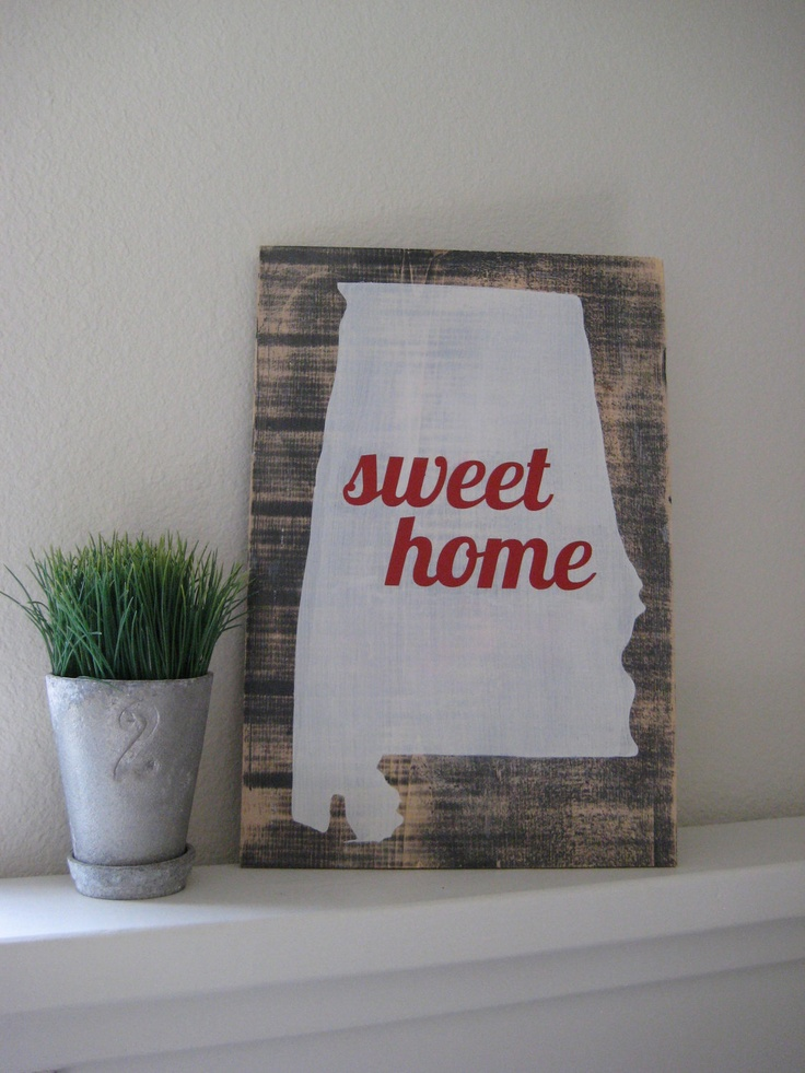In honor of Alabama representing the SEC in the BCS National Championship on Jan 7th, I will be offering 15% off all orders placed on that day!    Typography Wall Art - Sweet Home Alabama. $45.00, via Etsy.