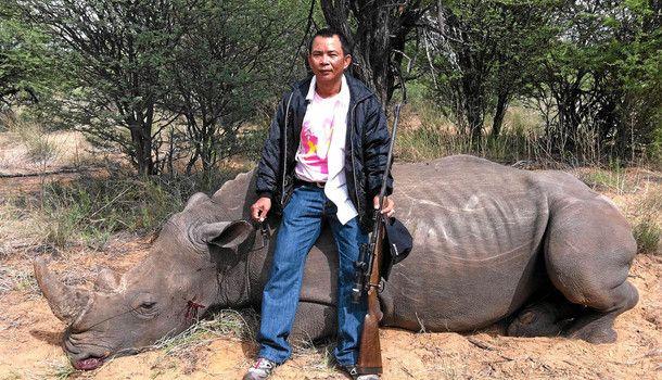Chumlong Lemtongthai - record 40 year sentence givent to Thai rhino poaching ringleader