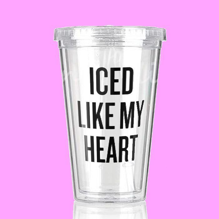 ICED LIKE MY HEART acrylic tumbler!   Perfect for smoothies juice iced #coffee water you name it! That summer heat is right around the corner! . . . . . . . #coldcup #coldcups #icedcoffee #tumbler #drinkwater #hydrate #watertumbler #drinkup #drinkwater  #shopbando #enamelpins #christmas  #caffeinequeen #caffeine #boytears #fitspo #icedlikemyheart #bridesmaids #summer #spring #fitspo #fitness #sugarluxeshop sugar luxe shop