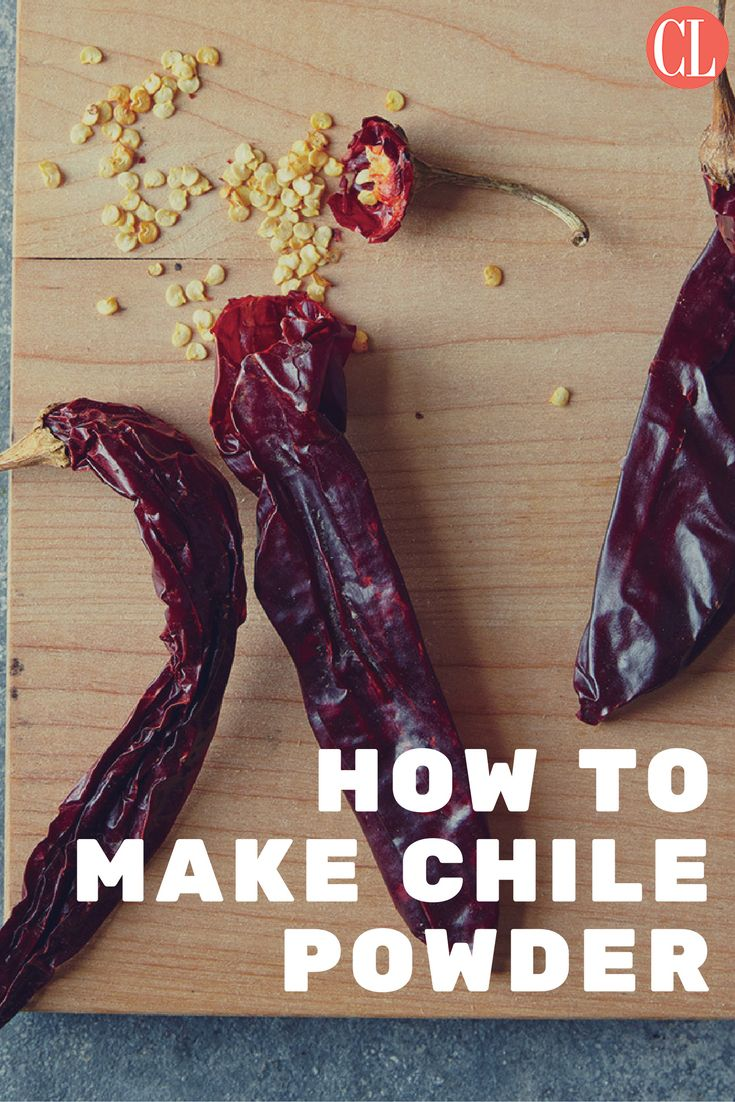 For chile powder that's fresher and cheaper than store-bought, make your own…