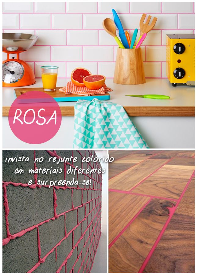 Rejunte Colorido - Rosa
