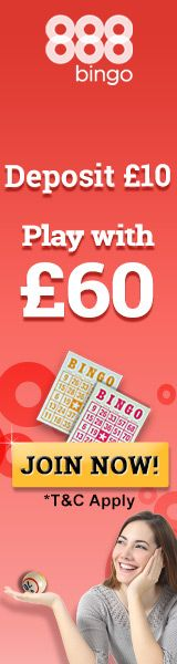 Deposit £10 and play with £60.   www.Casino-Bingo-UK.co.uk    United Kingdom's premier listing of online bingo, casino, lottery, and scratch cards. All the favorites and hard to find.   #UK #UnitedKingdom #bingo #casino #lottery #poker #roulette #scratchcards #slots #gambling #payout #chance #over18 #welcomepackage #welcomebonus #betting #luck #scratch #cards #scratchoffs #scratchgames