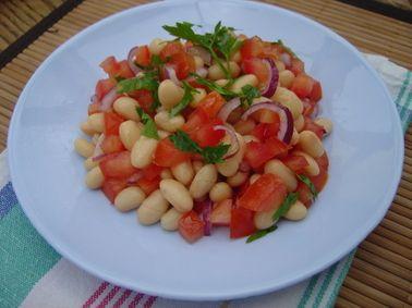 Haricots blancs en salade au vinaigre balsamique