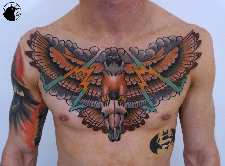 Chest Eagle by Bartek Kos Tattoo   https://www.instagram.com/bk_tats/