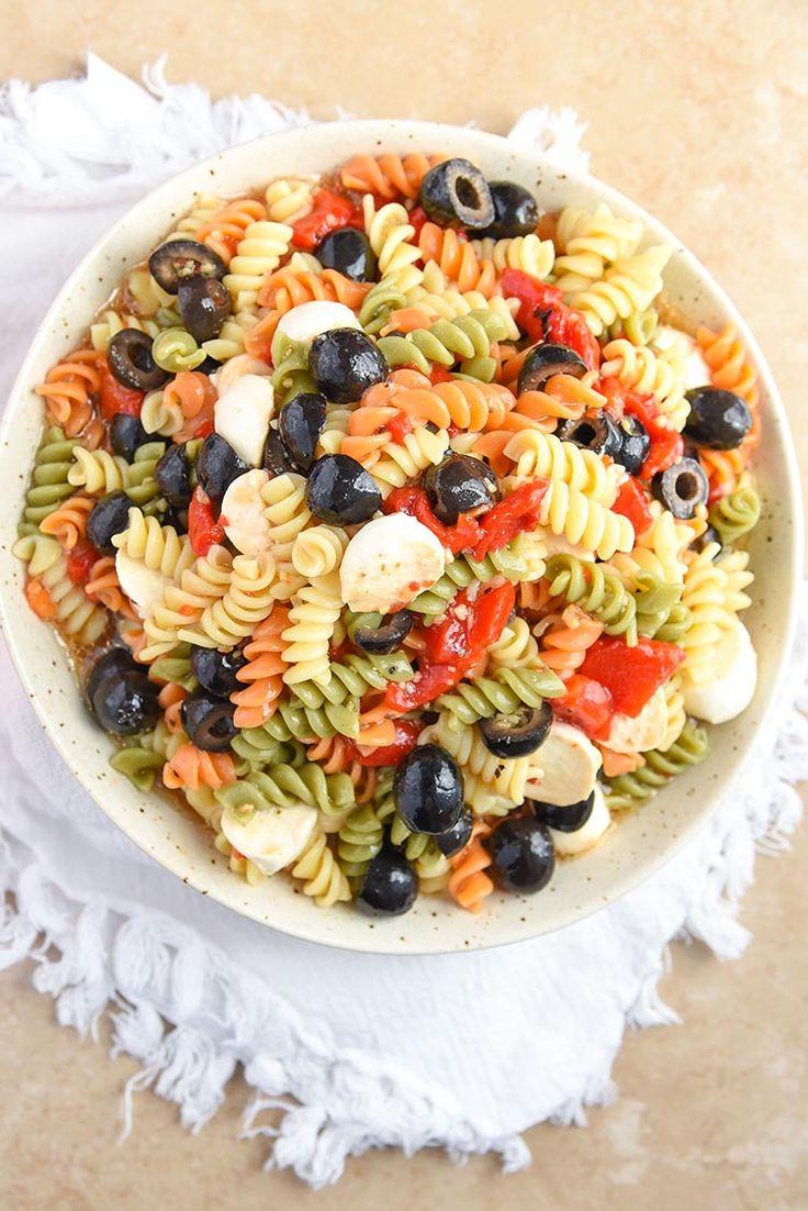 25 best ideas about tri color pasta salad on pinterest Pasta salad recipe cold
