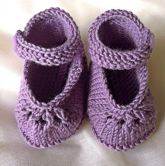 Knitted Baby Booties – handmade spring booties - Mary Jane shoes – baby shower gift - christening present by mamaandfred on Etsy https://www.etsy.com/uk/listing/510193974/knitted-baby-booties-handmade-spring