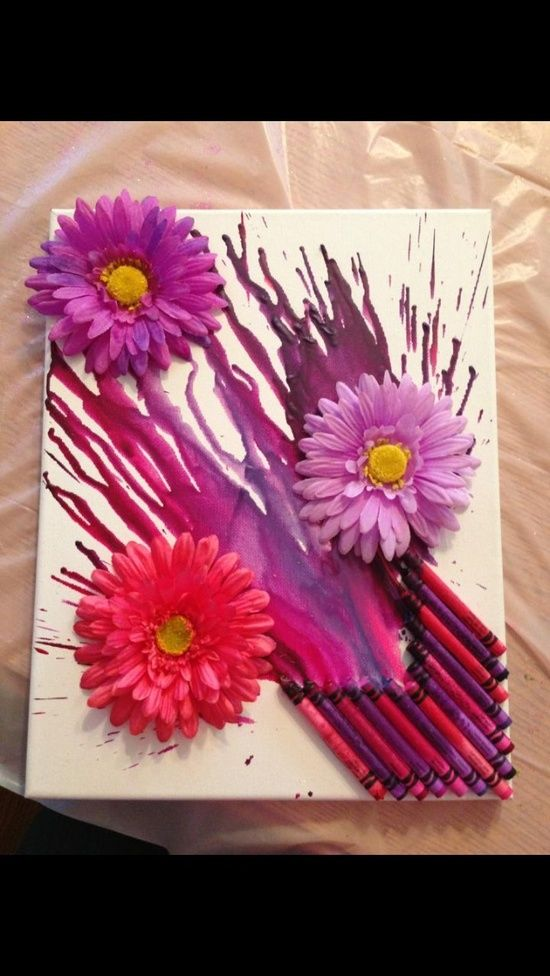 25 Best Ideas About Melted Crayon Canvas On Pinterest