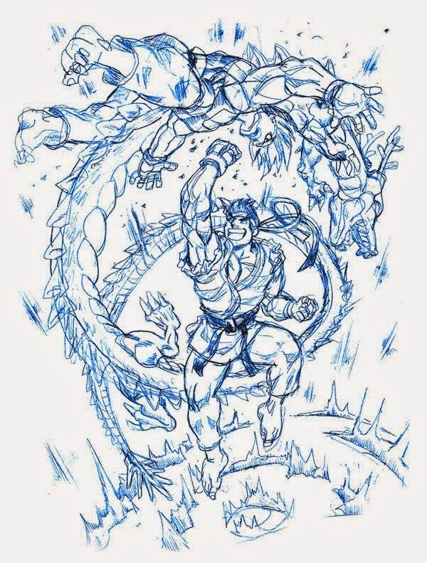 STREET FIGHTER GOGAI: Dibujo de Ryu vs Ken [Shoryuken] por EKN | EKN: Mis Dibujos de Anime Manga