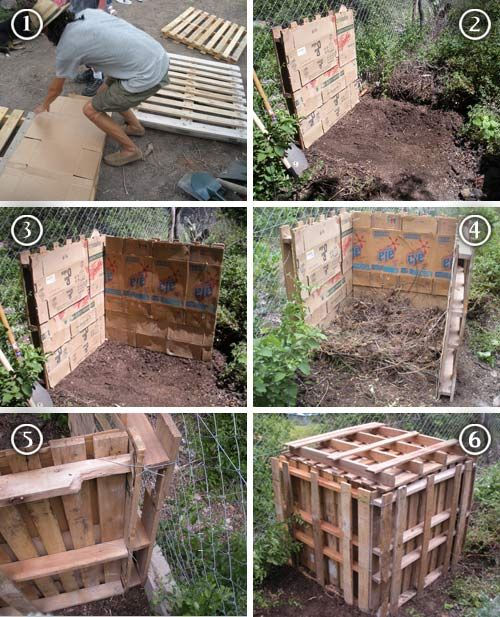67 best images about composteras on pinterest truco diy compost bin and raised beds - Como hacer compost en casa ...