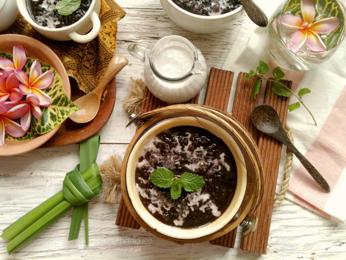 bubur injin recipe (black rice pudding)    CookingTackle
