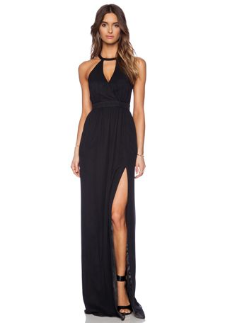 Jay Godfrey Dallenbach Backless Gown em Preto | REVOLVE