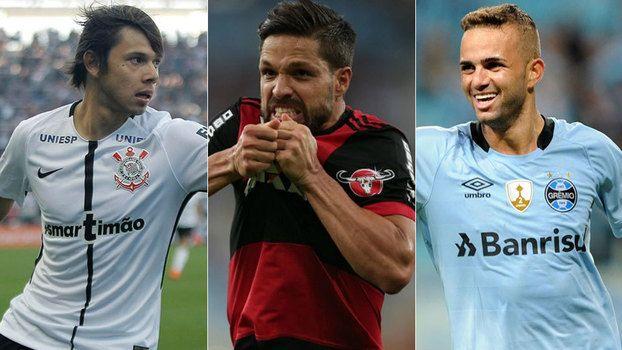 Gols assistências e valor: compare os quartetos ofensivos de Fla Corinthians e Grêmio