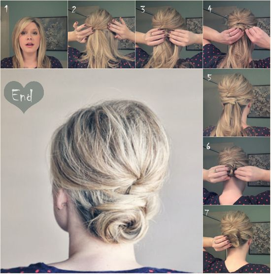 twisted hairbun for girls 2014 tutorial with clip in blonde remy and cheap extensions for thin hair