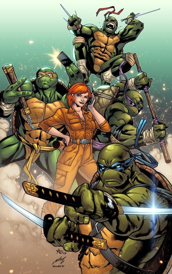 Ninja Turtles & April