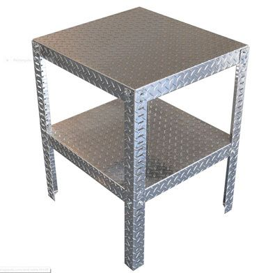 CamCo Mfg Diamond Plate Aluminum End Table - Aluminum - Diamond Plate - The Garage Store