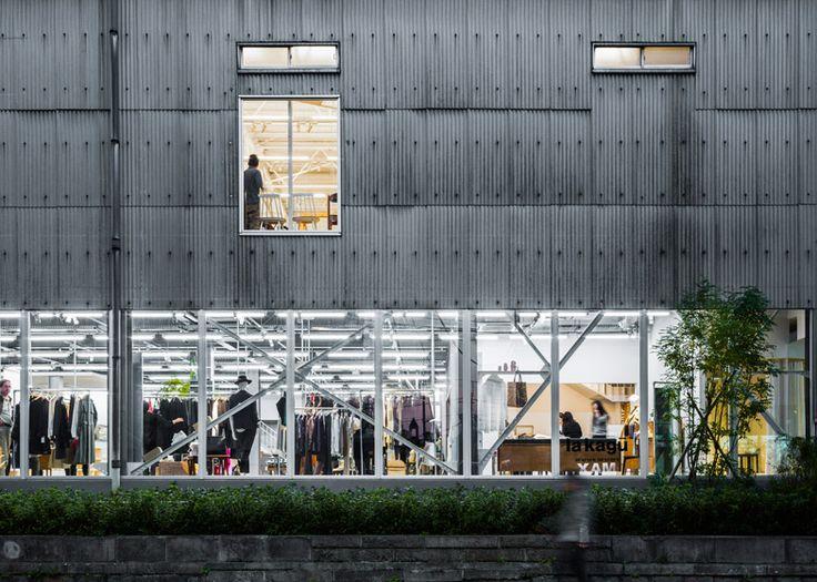 Kengo Kuma uses a grand staircase to create a shop