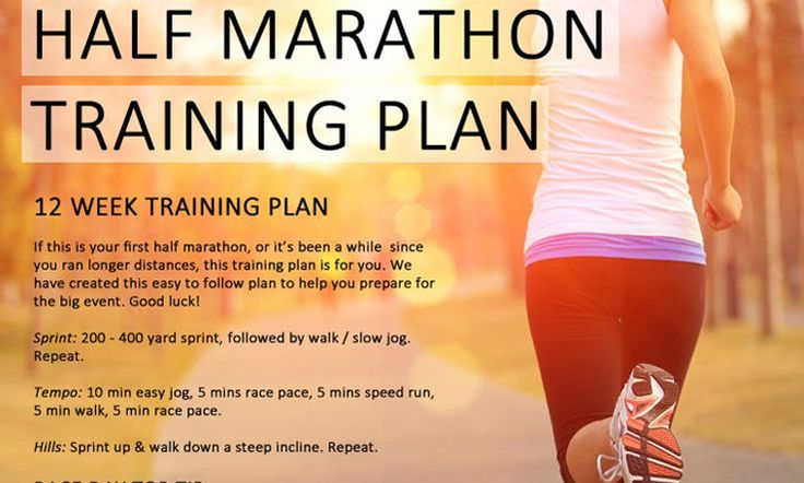 Running a half marathon is a challenge. It takes determination and will power, but is totally do-able. Follow our 12 week half marathon training plan...