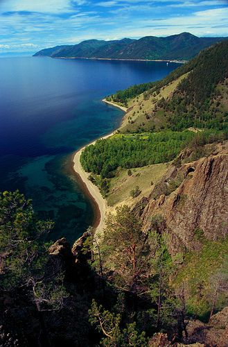 Panorama+Of+The+South-West+Shore+Of+Lake+Baikal-Russia
