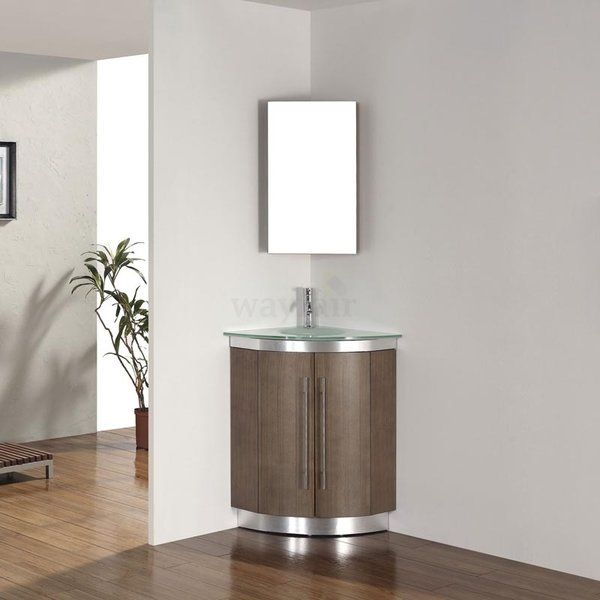 A Piece For The Connoissseur Of The Curveilinear The Diara Brings A Softer And Rounder Appr Corner Bathroom Vanity Bathroom Vanity Single Sink Bathroom Vanity