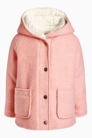 Buy Pink Borg Lined Jacket (3mths-6yrs) from the Next UK online shop