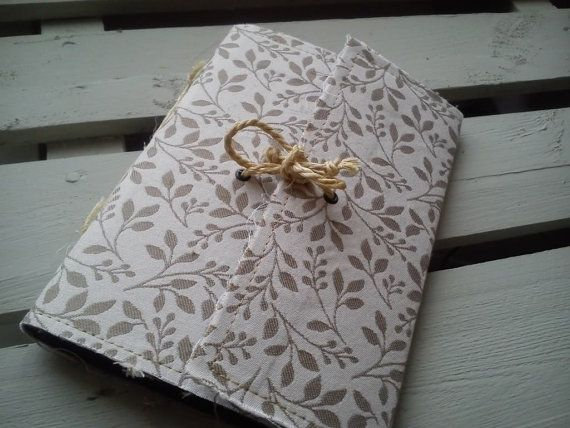 Handmade Paper Notebooks Vintage Shabby Chic Fabric Journal Diary