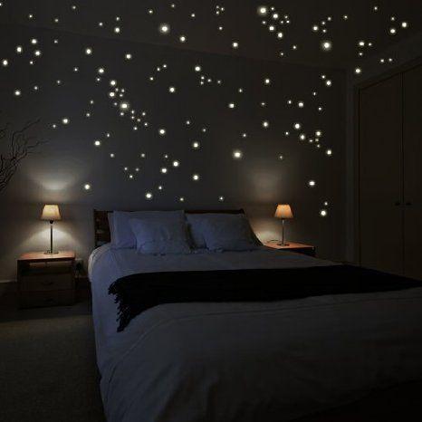 Wandkings WK-10974 250 Leuchtpunkte für Sternenhimmel Wandsticker, Fluoreszierend und im Dunkeln leuchtend