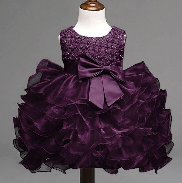 c56f765ae 3-6 Months Purple Dress Infant Baby Dress Formal Wear for Girls ...