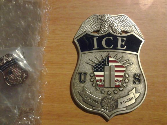 DHS/ICE Immigration & Customs Enforcement 10yr 9/11 badge | Police & Law Enforcement Discussions and Forums - PoliceLink