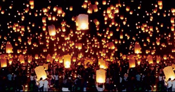 Mass release of Wish Lanterns - these things are soooo cool!! They have red, white & blue too, I'm so thinking for the 4th! or white for New Years party ooooooo I just luv um!!