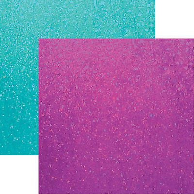 Reminisce GLITTER FROST 12x12 Dbl-Sided (2pc) Scrapbooking Paper
