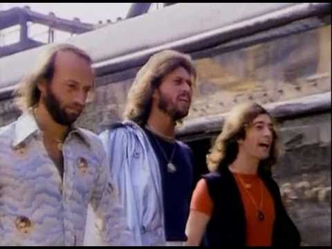 Bee Gees - Stayin' Alive [HQ 1rst Version Music Video 1977] (NO FAKE HQ) + LYRICS - YouTube